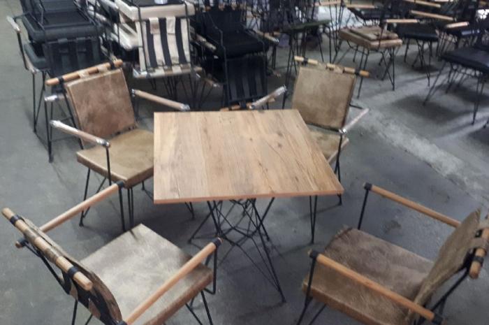 temiz vaziyette az kullanılmış Restaurant, Cafe masa sandalye takımı